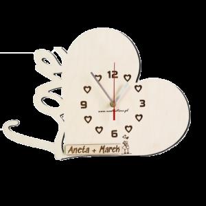 Walentynkowy zegar ścienny